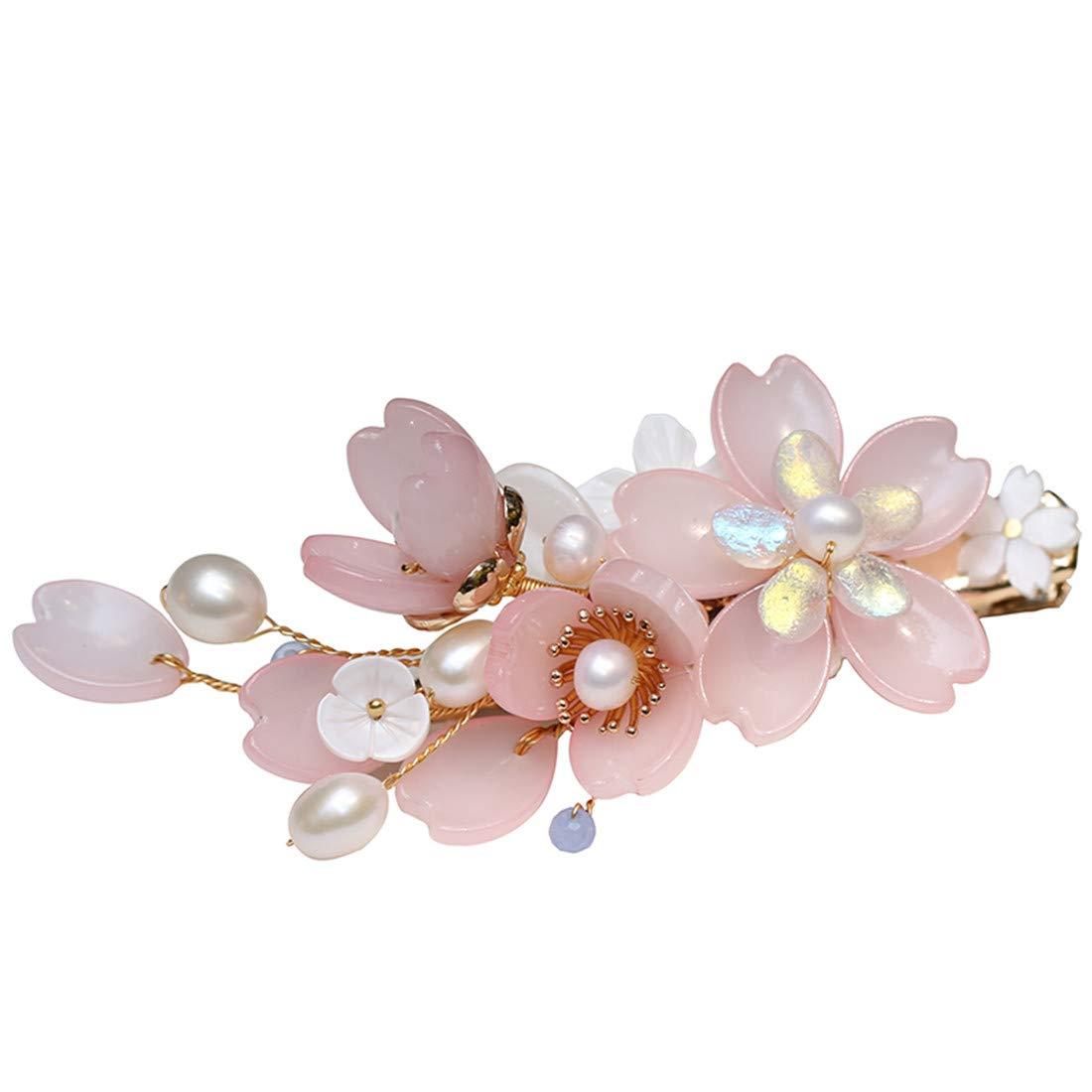Retro Flower Hair Pin Comb Accessory for Kimono Hanfu Party Cosplay