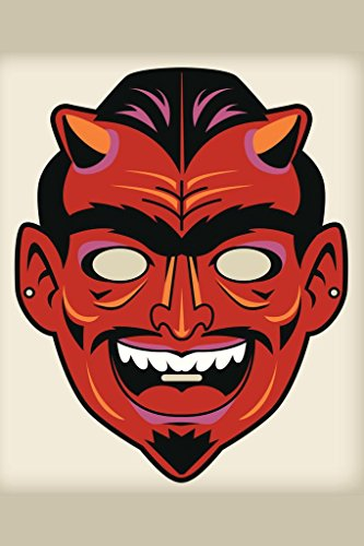 Scary Halloween Mask Cut Out - Devil Satan Vintage Mask Decoration or