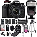 Canon EOS 80D Digital SLR Camera Bundle with Canon EF-S 18-135mm f/3.5-5.6 IS USM Lens + Professional Accessory Bundle (15 items)