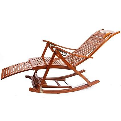 Fabulous Amazon Com Chairs Solid Wood Rocking Bamboo Senior Man Nap Download Free Architecture Designs Estepponolmadebymaigaardcom