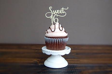 Sweet 16 Cupcake Decorations