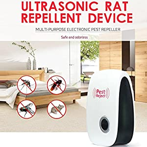 Sikiwind Electronic Pest Reject Pest Repellent Electronic Control Used in Indoor and Outdoor for Anti Mosquito Rat Mice Pest Bug Repeller