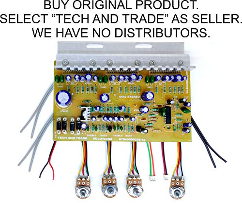 TECH AND TRADE 4440 Triple IC Based DIY Home Theater Audio Amplifier Circuit Board Bare Circuit KIT
