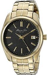 Kenneth Cole New York Men's 10024358 Classic Analog Display Japanese Quartz Gold Watch