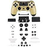 Cheap XFUNY PS4 Gamepad Skin Part Replacement Front Back Controller Shell Polished Glossy Cover Case Protective for Sony PlayStation 4 Game Controllers (Gold)