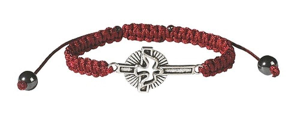 Holy Spirit Cross Corded Bracelet-12pk