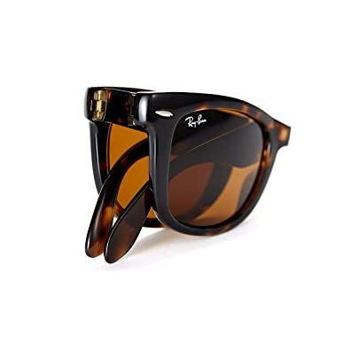 cf83f61217 Image Unavailable. Image not available for. Color  New Authentic Ray-Ban RB  4105 710 54mm Wayfarer Light Havana Crystal Brown