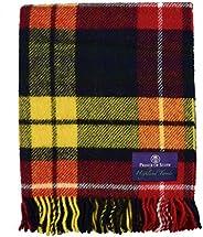 Prince of Scots Highland Tartan Tweed 100% Pure New Wool Throw ~ Buchanan ~