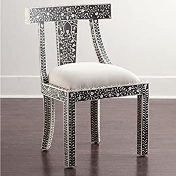 Superbe Bone Inlay Chair Made Bone Inlay Floral Furniture