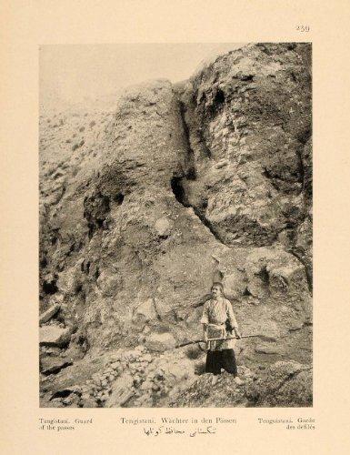 1926-iranian-guard-man-rifle-mountain-pass-iran-print-original-halftone-print