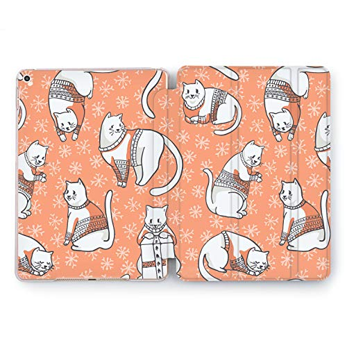 Wonder Wild Cat Dress Apple iPad Pro Case 9.7 11 inch Mini 1 2 3 4 Air 2 10.5 12.9 2018 2017 Design 5th 6th Gen Clear Smart Hard Cover Animals Kittens Meow Sweater Cold Winter Cute Funny Favorite