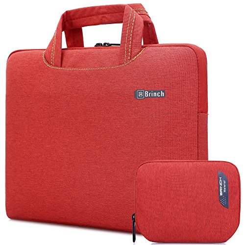 BRINCH Universal Fabric Portable Anti-Tear 13-13.3 Inch Laptop Sleeve Case for Apple MacBook/Chromebook/Acer/Asus/Dell/Fujitsu/Lenovo/HP/Samsung/Sony/Toshiba with Accessory Bag