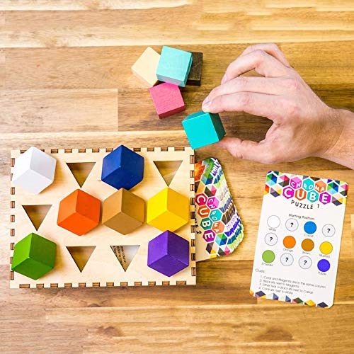 Chroma Cube Logic Game with 25 Puzzles for Adults, IQ Game, Award Winning Brain Teaser by PROJECT GENIUS