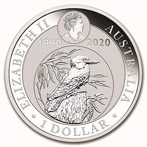 2019  AUSTRALIAN KOOKABURRA  1 OUNCE  .999  FINE SILVER COIN IN AIR-TITE CAPSULE