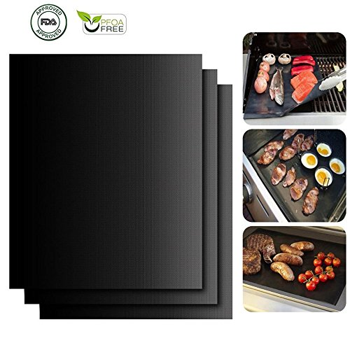 HILLPOW Non-Stick BBQ Grill Mats for Gas Grills...
