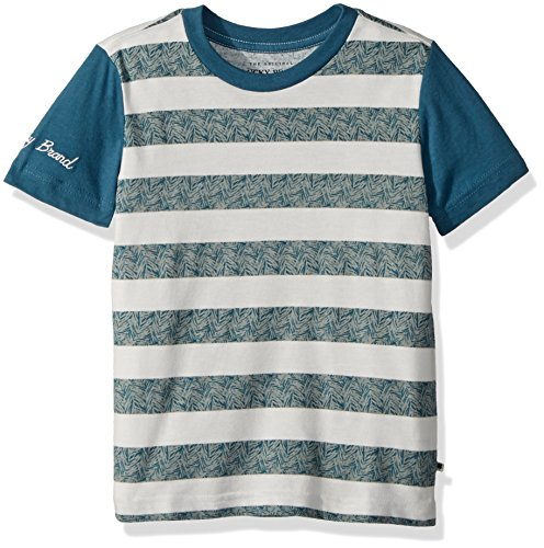 ttle Short Sleeve Graphic Tee Shirt, Mineral Blue Stripes, 5 ()