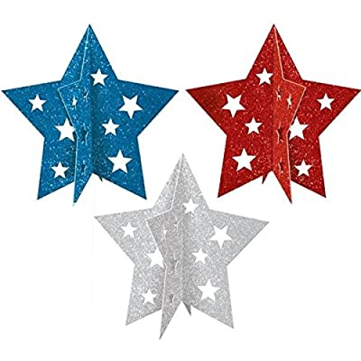 Patriotic Party 3-D Centerpieces, 3 Ct.: Kitchen & Dining