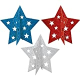 Patriotic Party 3-D Centerpieces, 3 Ct.