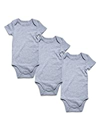 Romperinbox Plain Unisex Baby Bodysuits Packs