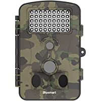 Trail Game Camera , Blusmart Wildlife Camera 12MP 1080P HD With Time Lapse 65ft 120° Sensor 50 Degree Animal camera Infrared Night Vision 42pcs IR LEDs 2.4 LCD Screen Scouting Camera