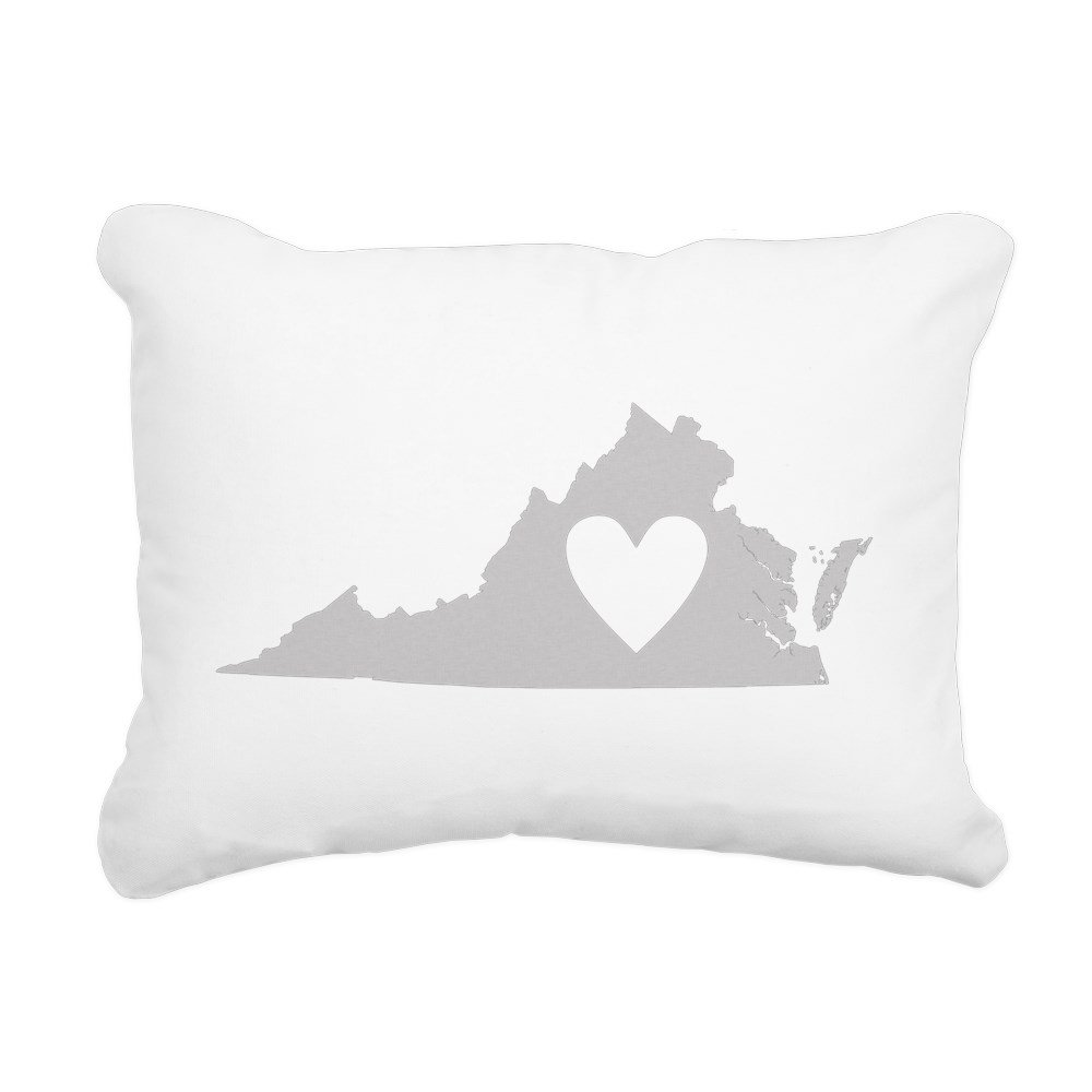 CafePress - Heart Virginia - 12''x15'' Canvas Pillow, Throw Pillow, Accent Pillow