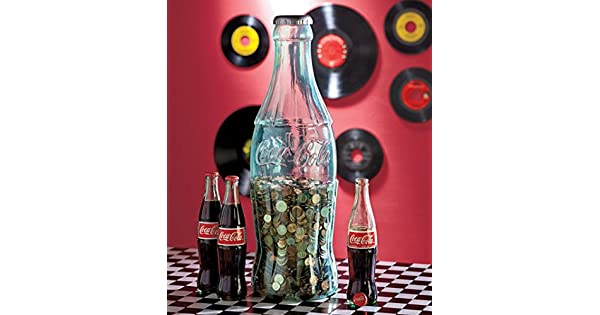 Amazon.com: Jumbo Coque Coca-Cola contour bottle Coin Banco ...