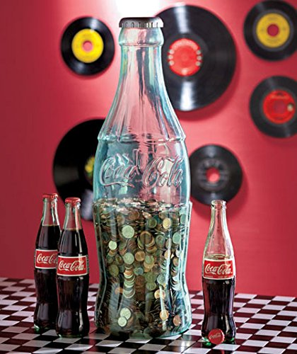 Jumbo Coca-Cola Coke Contour Bottle Coin Bank (Bank Slot Jumbo)