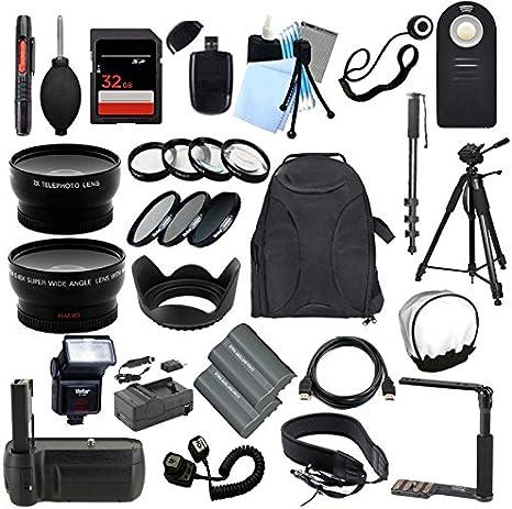 TODO lo que necesitas Kit de accesorios para la Nikon D80 Cámara ...