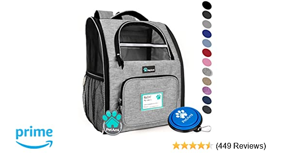 e864ea890303 Amazon.com   PetAmi Deluxe Pet Carrier Backpack for Small Cats and ...