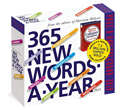2019 365 New Words Daily Page-A-day Box/Desk Calendar