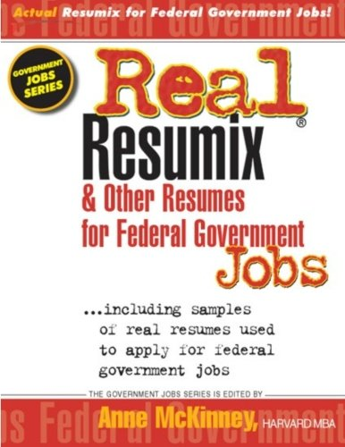 Real Resumix   Other Resumes For Federal Government Jobs