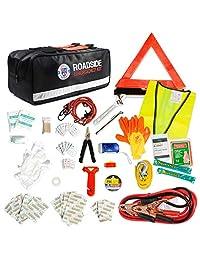 """Kit de ayuda para emergencia para auto de 65 unidades con cables de puente de """"Always Prepared."""