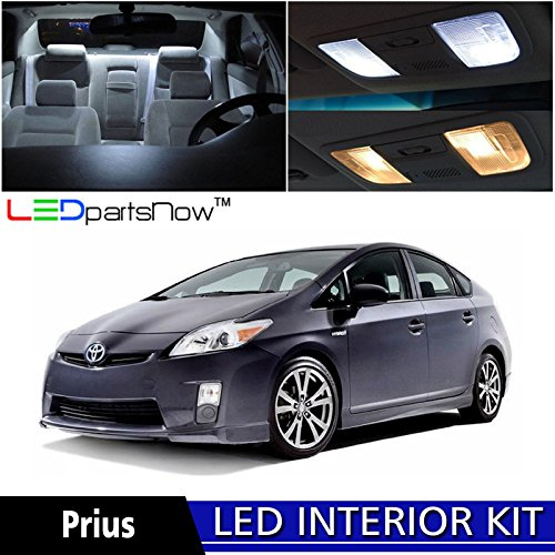 5 Toyota Prius LED Interior Lights Accessories Replacement Package Kit (10 Pieces), WHITE ()
