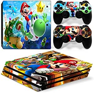 For Sony Playstation 4 PS4 Pro Console Decal Skin Stickers with 2 Pcs Stickers For PS4 Pro Controller