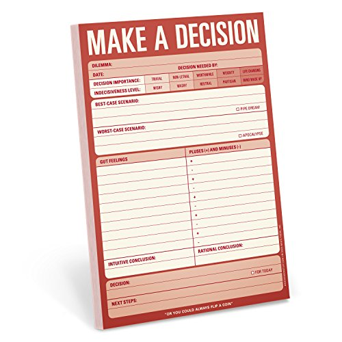 Knock Knock Make a Decision Pad cover