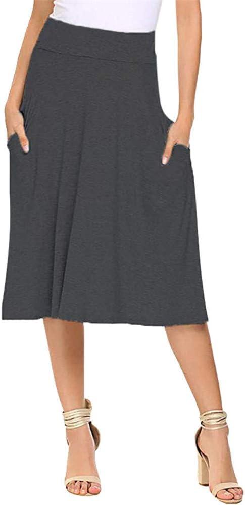 FELZ Falda Mujer Corta Falda Mujer Talla Grande Mujeres Básico ...