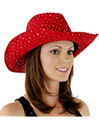Glitter Sequin Trim Cowboy Hat for Ladies 0e8b2507f6f4
