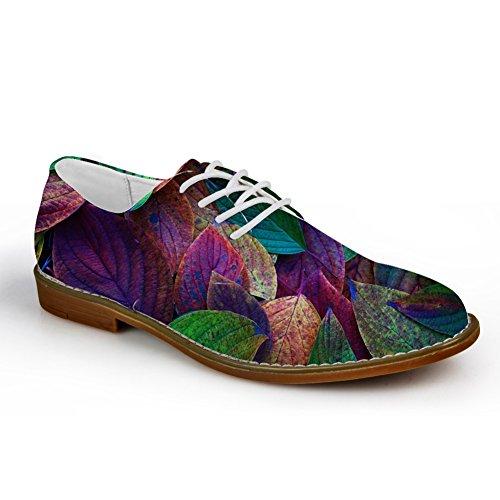Abbracci Idea Piante Verdi Modello Mens Casual Oxford Flats Lace Up Shoes Leaf 10