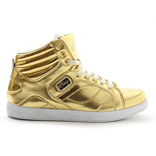 Pastry High Tops - Pastry Unisex Sweet Court Sneaker, Gold 9