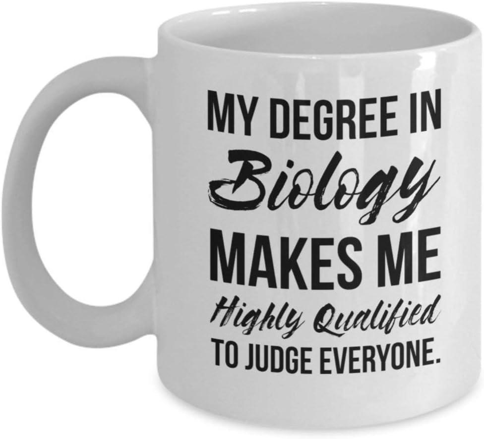 Regalo de biología Taza de biología Taza de biólogo de grado de biología Regalo para biólogo Biólogo personalizado Graduación Profesor de biólogo regalo