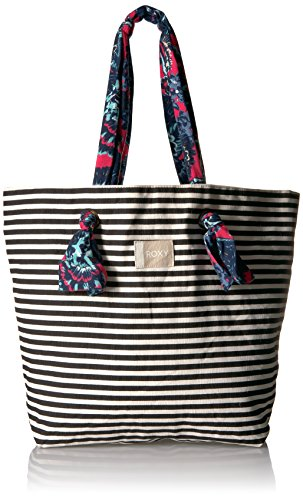 Roxy Act Together Tote Bag, Bright White Basic Stripe (Spot Roxy)