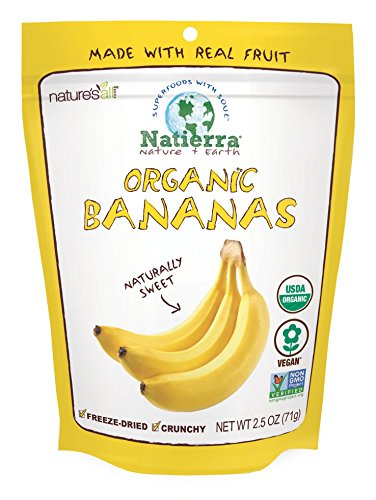 Natierra Nature's All Foods Organic Freeze-Dried and Crunchy, Bananas Flavor, 2.5 Oz