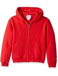 Champion Boys Powerblend Eco Fleece Full Zip Hoodie Hooded Sweatshirt