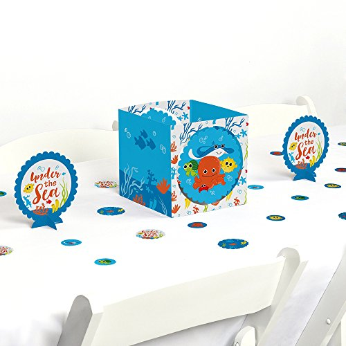 Big Dot of Happiness Under The Sea Critters - Baby Shower or Birthday Party Centerpiece & Table Decoration Kit by Big Dot of Happiness