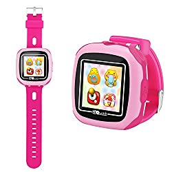 HSX_Z Smart Watch for Kids with Digital Camera Games Touch Screen, Cool Toys Watch Gifts for Girls Boys Children Learning toys (Pink)