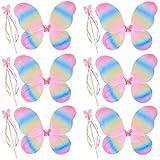 kilofly 6 Sets Princess Fairy Wings Butterfly Angel Costume Dress Up Role Play