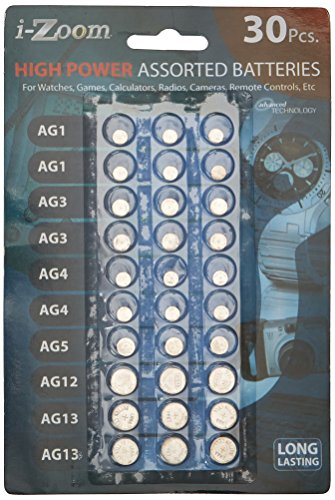 SE - Batteries - Assorted Button Cell, 30 Pc