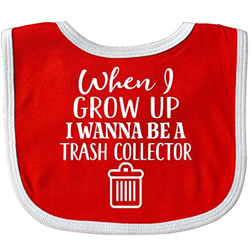 Inktastic - Future Trash Collector Sanitation Engineer Baby Bib Red/White (White Trash Outfit)
