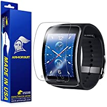 ArmorSuit MilitaryShield - Samsung Gear S Smartwatch Screen Protector Anti-Bubble Ultra HD - Extreme Clarity & Touch Responsive Shield with Lifetime Free Replacements - Retail Packaging
