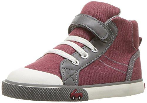 See Kai Run Boys' Dane Sneaker, Burgundy Denim, 6 M US Toddler